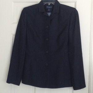 Ann Taylor Navy Wool Blend Blazer size 4P
